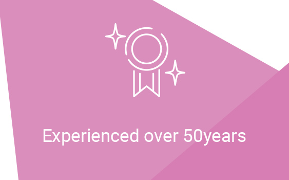 Experienced over 50years
